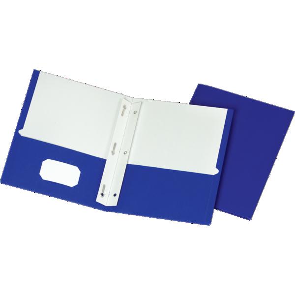 9 x 12 Presentation Folders w/ Brads Blue
