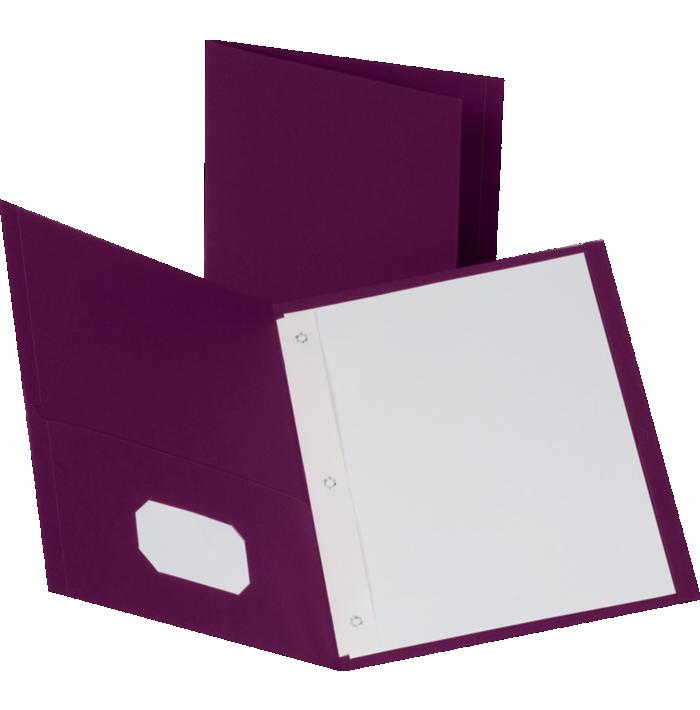 9 x 12 Presentation Folders w/ Brads Burgundy