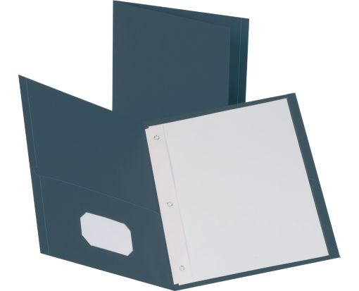 9 x 12 Presentation Folders w/ Brads Dark Blue