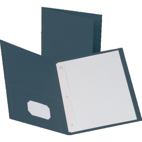 9 x 12 Presentation Folders w/ Brads Dark Blue