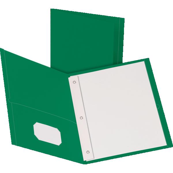 9 x 12 Presentation Folders w/ Brads Green