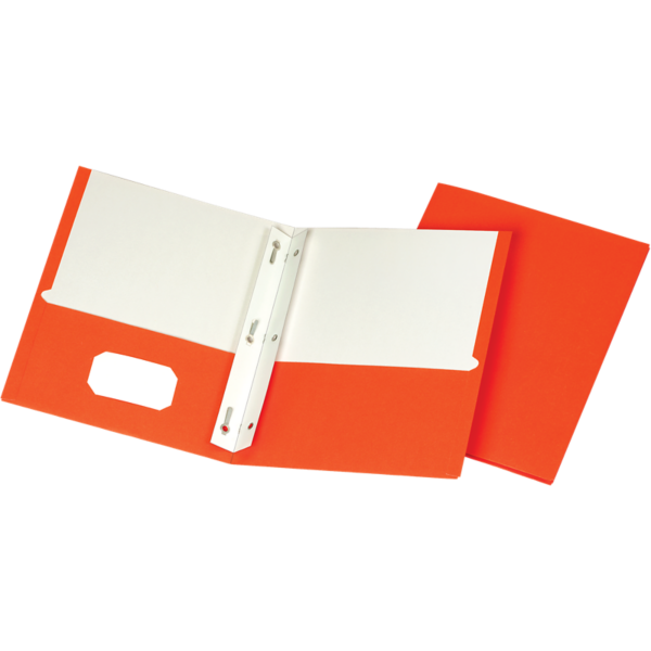 9 x 12 Presentation Folders w/ Brads Orange