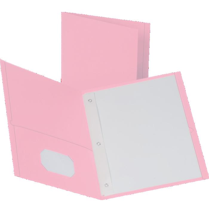 9 x 12 Presentation Folders w/ Brads Pink