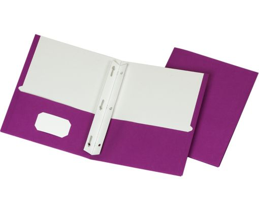 9 x 12 Presentation Folders w/ Brads Purple