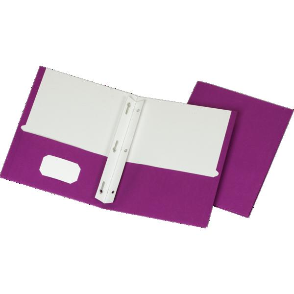 9 x 12 Presentation Folders w/ Brads Purple