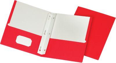 9 x 12 Presentation Folders w/ Brads Red