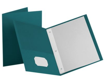 9 x 12 Presentation Folders w/ Brads Teal