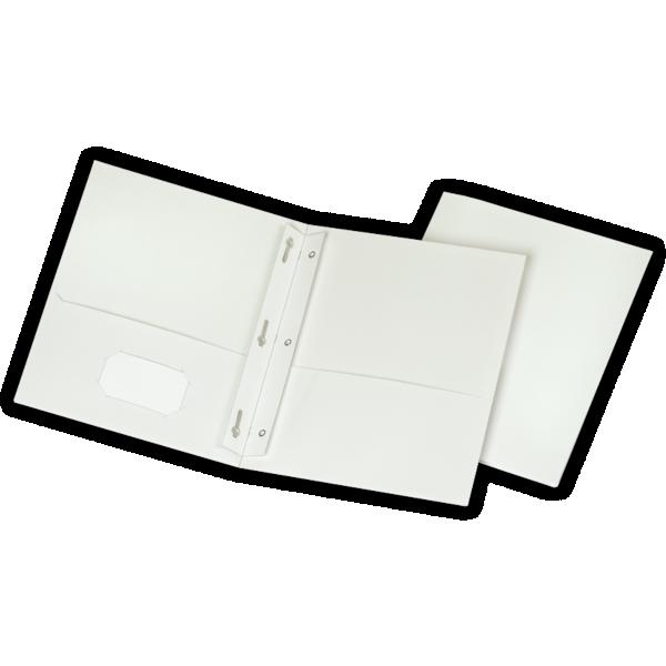 9 x 12 Presentation Folders w/ Brads White