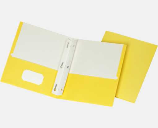 9 x 12 Presentation Folders w/ Brads Yellow