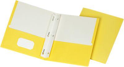 9 x 12 Presentation Folders w/ Brads Yellow