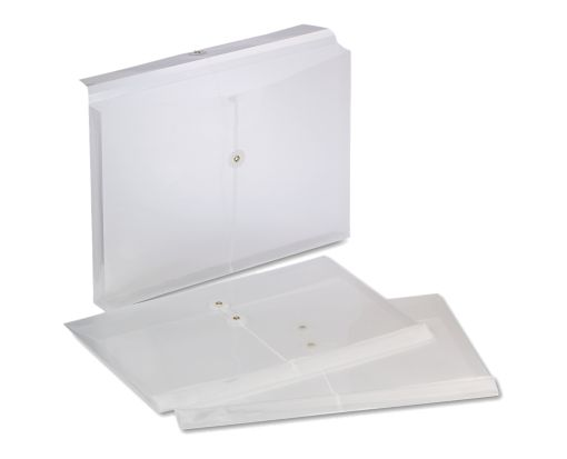 8 1/2 x 14 Poly Button & String Booklet Envelopes Clear