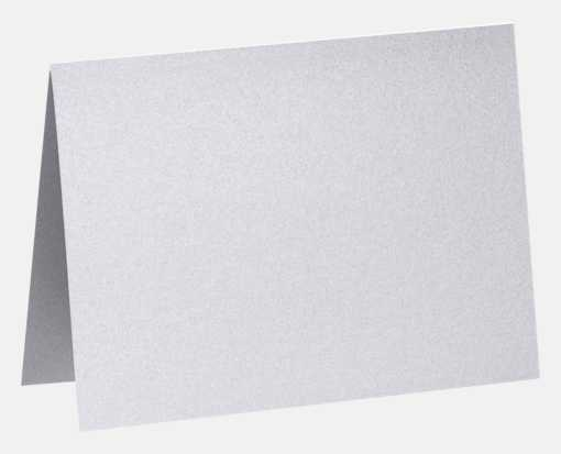 A2 Folded Card (4 1/4 x 5 1/2) Silver Metallic