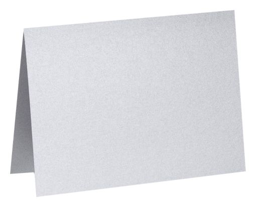 A6 Folded Card (4 5/8 x 6 1/4) Silver Metallic