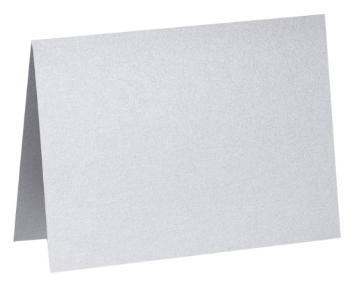 A7 Folded Card (5 1/8 x 7) Silver Metallic