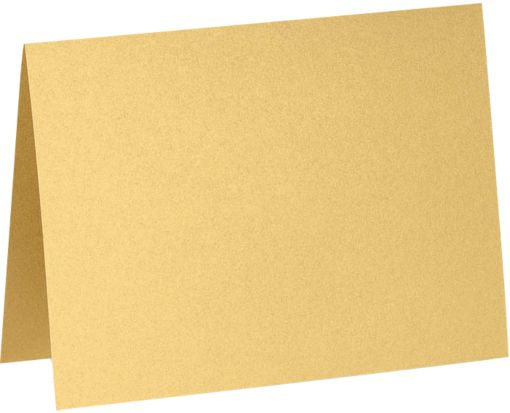 A6 Folded Card (4 5/8 x 6 1/4) Gold Metallic