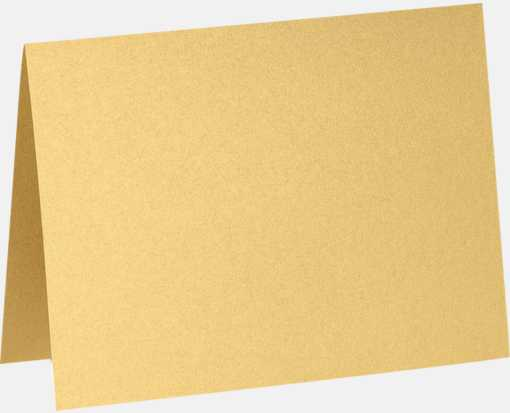 A7 Folded Card (5 1/8 x 7) Gold Metallic