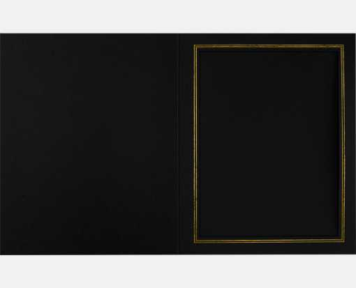 8 x 10 Portrait Photo Holder Black Linen w/Gold Foil