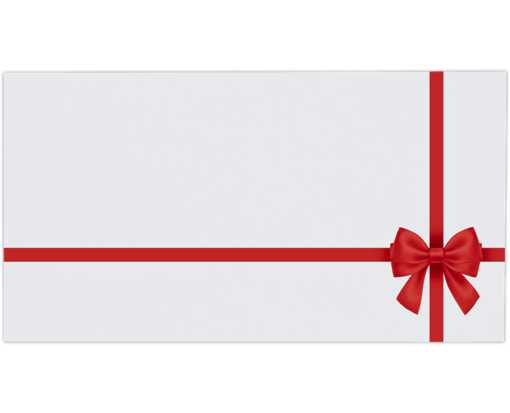 Photo Greeting Gifting Envelopes (4 3/8 x 8 1/4) Red Bow on White