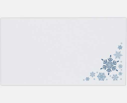Photo Greeting Gifting Envelopes (4 3/8 x 8 1/4) Snowflakes on White