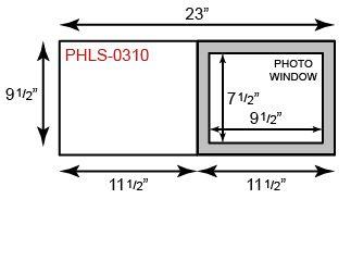 "Photo Holder - 8"" x 10"" Landscape Orientation"