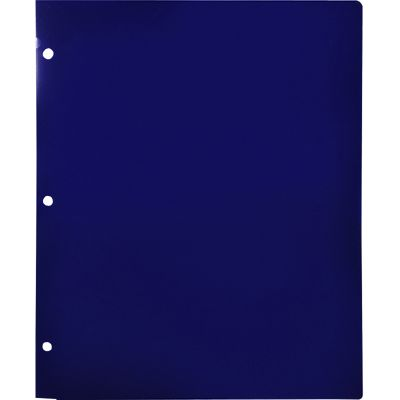 Continuous Pocket Folders w/ 3 Hole Punch Midnight Blue