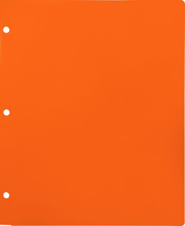 Continuous Pocket Folders w/ 3 Hole Punch Orange