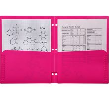 Continuous Pocket Folders w/ 3 Hole Punch