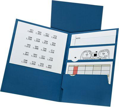Oxford® Divide It Up 4-Pocket Folders Blue