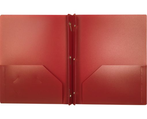 9 x 12 Presentation Poly Folders w/ Brads Burgundy