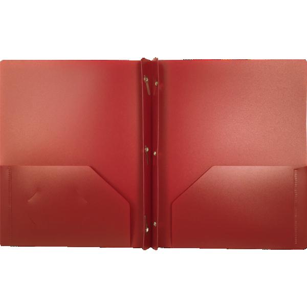 9 x 12 Presentation Poly Folders w/ Brads Burgundy