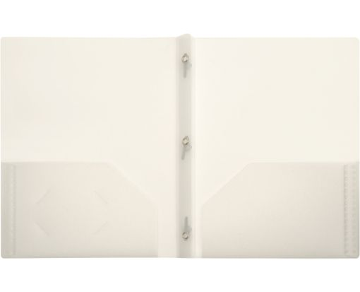 9 x 12 Presentation Poly Folders w/ Brads Clear