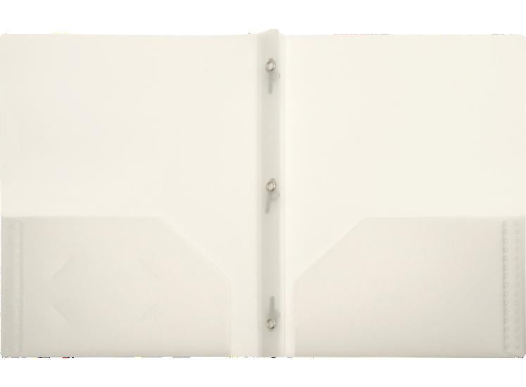 9 x 12 Presentation Poly Folders w/ Brads Clear