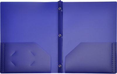 9 x 12 Presentation Poly Folders w/ Brads Deep Blue