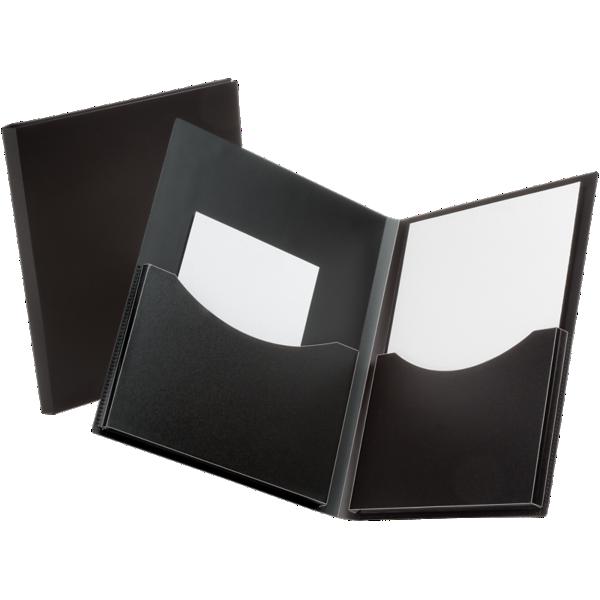 Oxford® Double Stuff Poly Folders Black