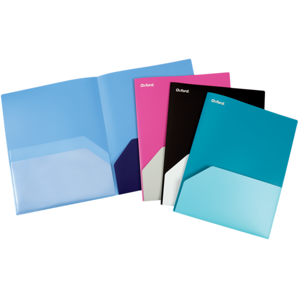 Poly Twisted Twin Pocket Folders Assorted - Twisted