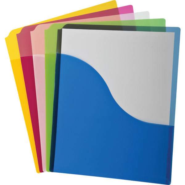Poly Wave Pocket Project Folders Assorted - Wave