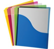Poly Wave Pocket Project Folders