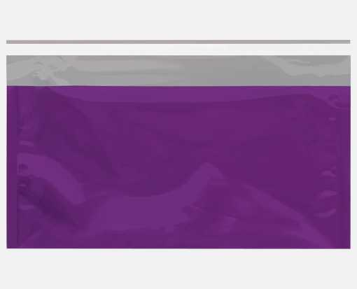 6 1/4 x 10 1/4 Metallic Glamour Mailers Purple