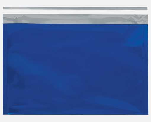 9 1/2 x 12 3/4 Metallic Glamour Mailers Blue