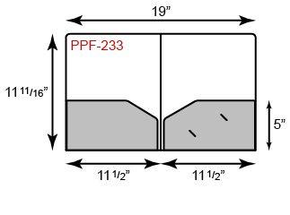 Poly Presentation Folders - Two Pockets w/ Sonic Weld Design