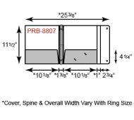 Paper Binder - 3 Ring w/ Portfolio Flap & Two Pockets