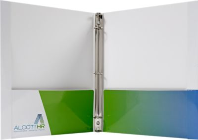 Paper Binder - 3 Ring w/ Reinforced Edge & Two Pockets