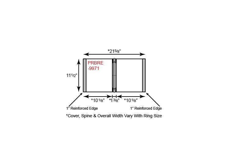 Paper Binder - 3 Ring w/ Reinforced Edge & No Pockets