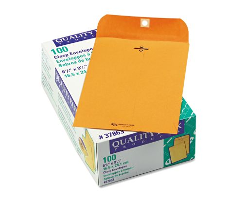 6 1/2 x 9 1/2 Clasp Envelopes 28lb. Brown Kraft