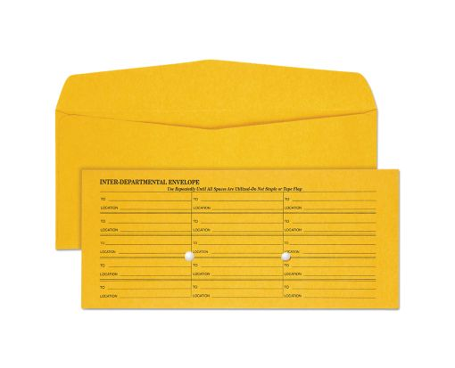 #11 Regular Envelopes (4 1/2 x 10 3/8) 28lb. Brown Kraft, Interoffice