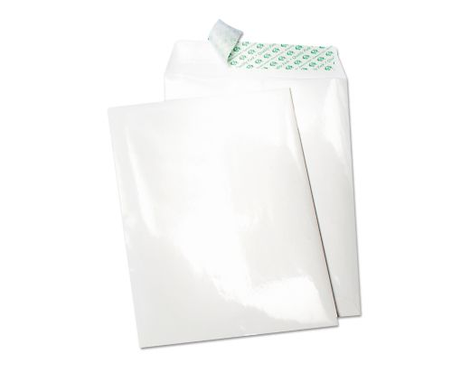 10 x 13 Open End Envelopes Poly Coated White