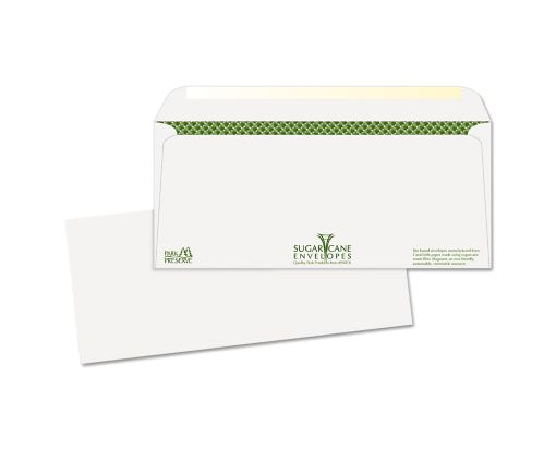 #10 Regular Envelopes (4 1/8 x 9 1/2) 24lb. White, Sugarcane