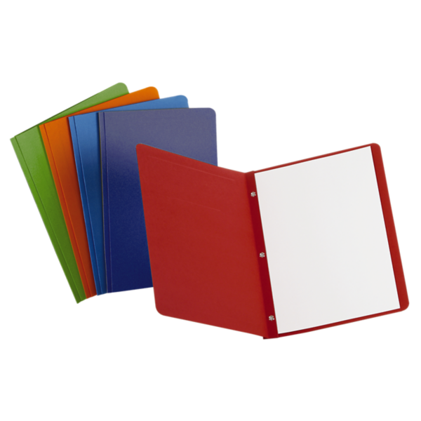 Oxford® Panel & Border Report Covers with Fasteners Assorted - Panel & Border Front