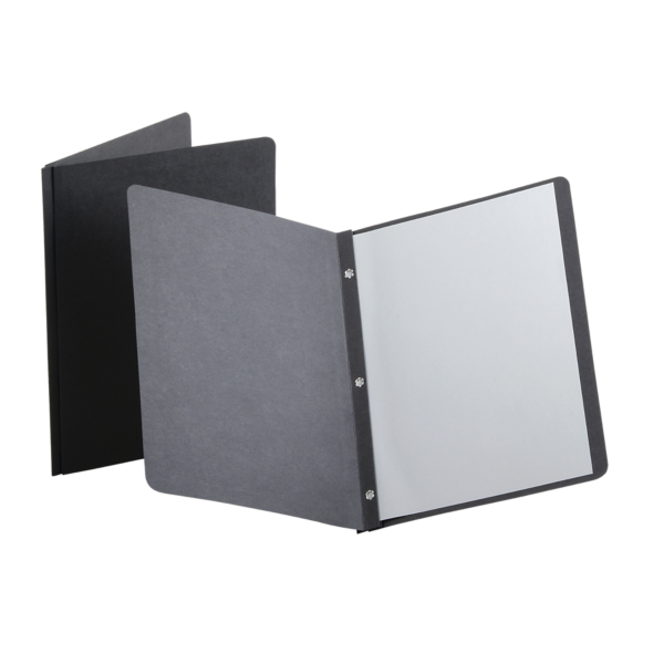 Oxford® Panel & Border Report Covers with Fasteners Black - Panel & Border Front
