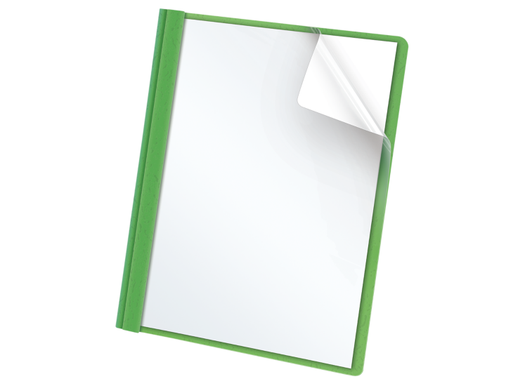 Oxford® Clear Front Report Covers with FastenersOxford® Clear Front Report Covers with Fasteners Green - Clear Front